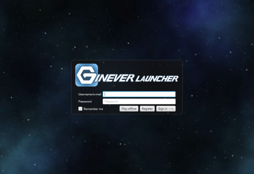 GineverLauncher - the official launcher for GinENGINE software projects